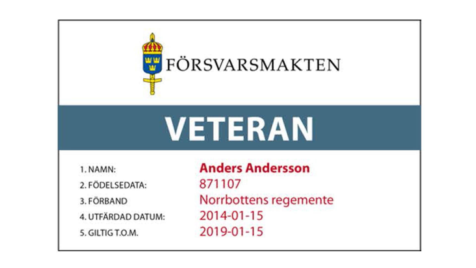 Veteran Kortet Rabatt