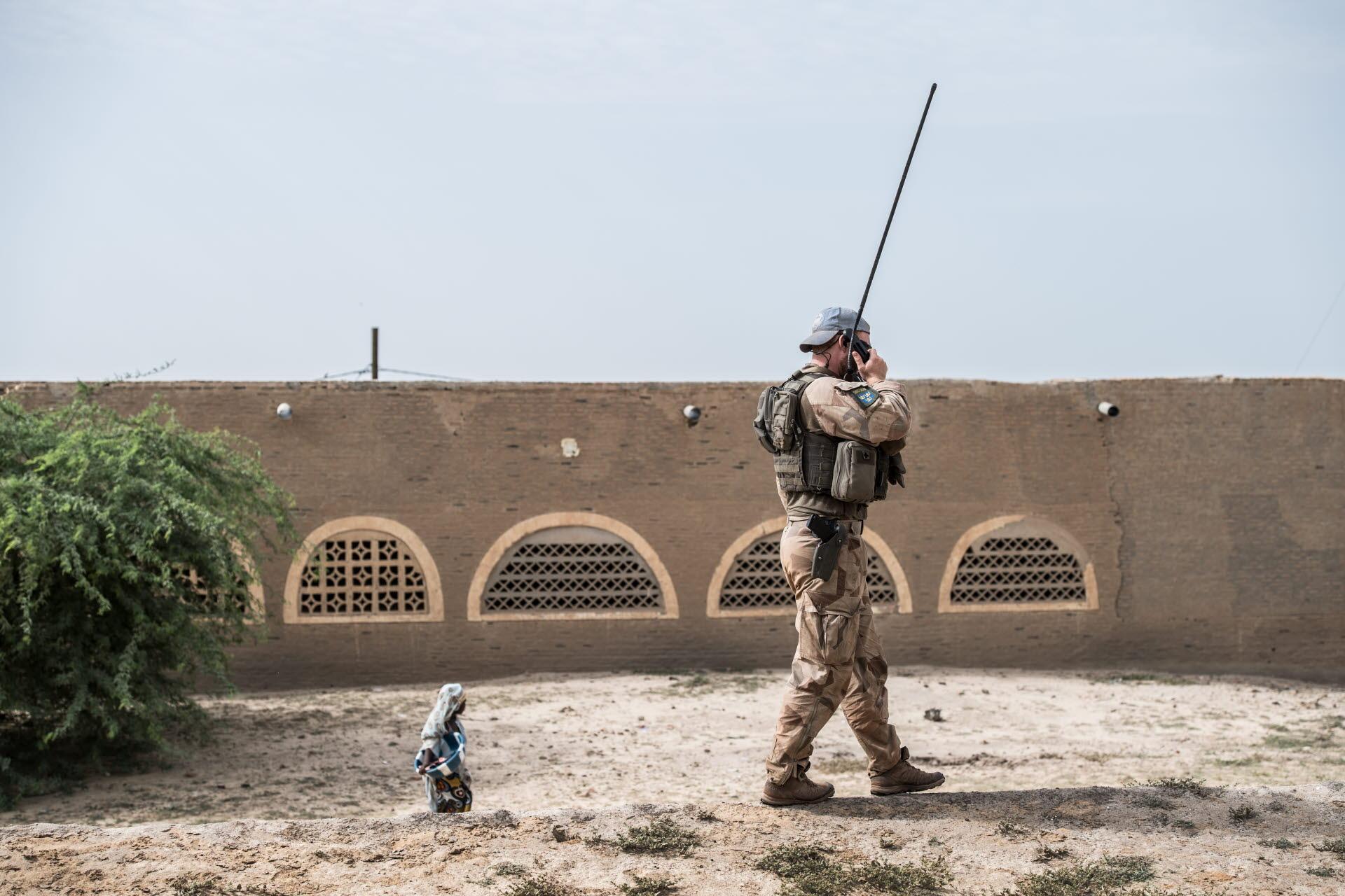 Fredsbevarande fn soldater fria