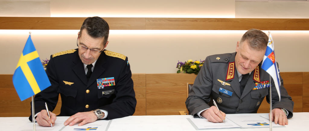 Sweden and Finland signs Military Strategic Concept for the deepened defence cooperation