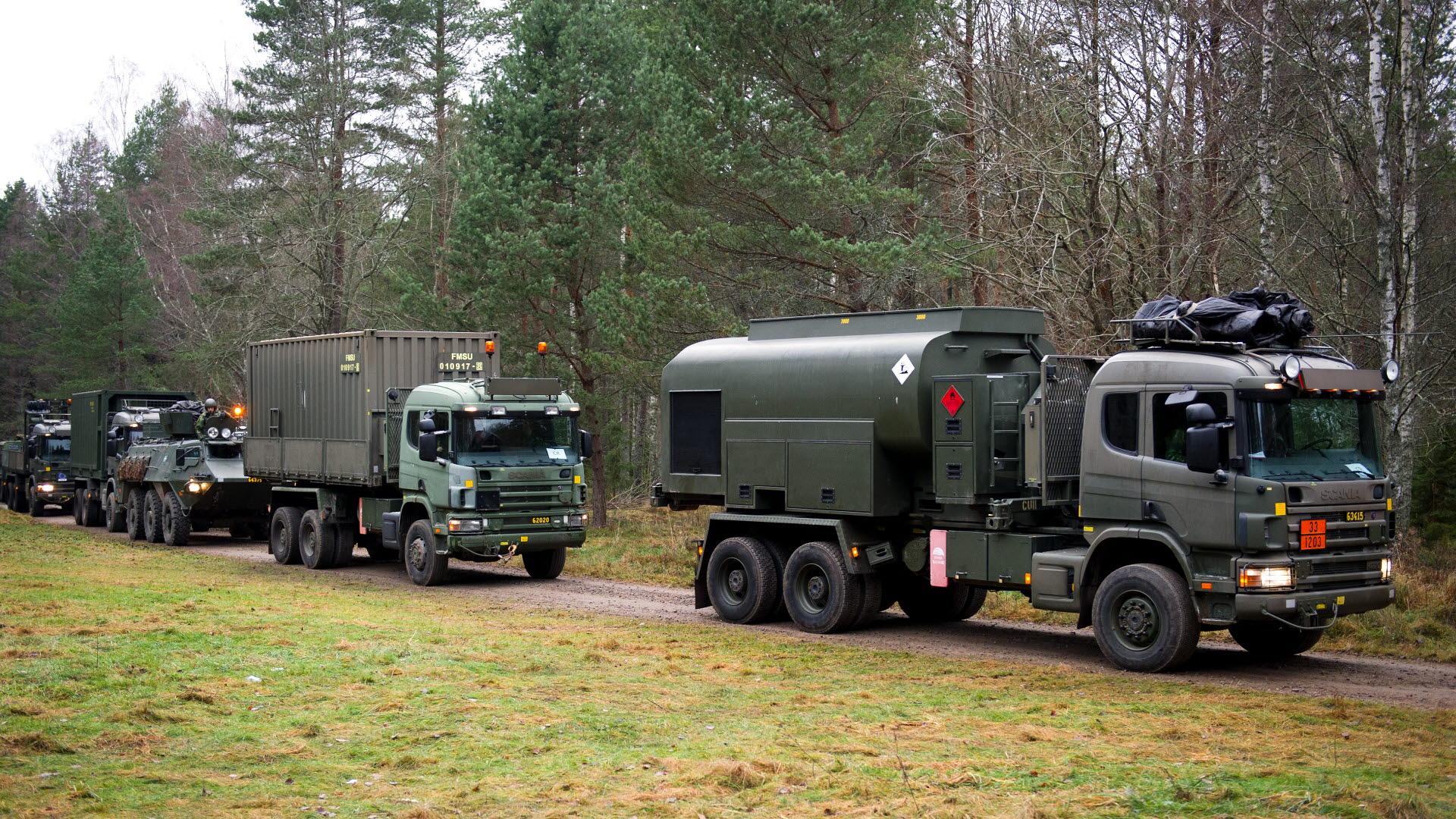 Lastbilar Forsvarsmakten