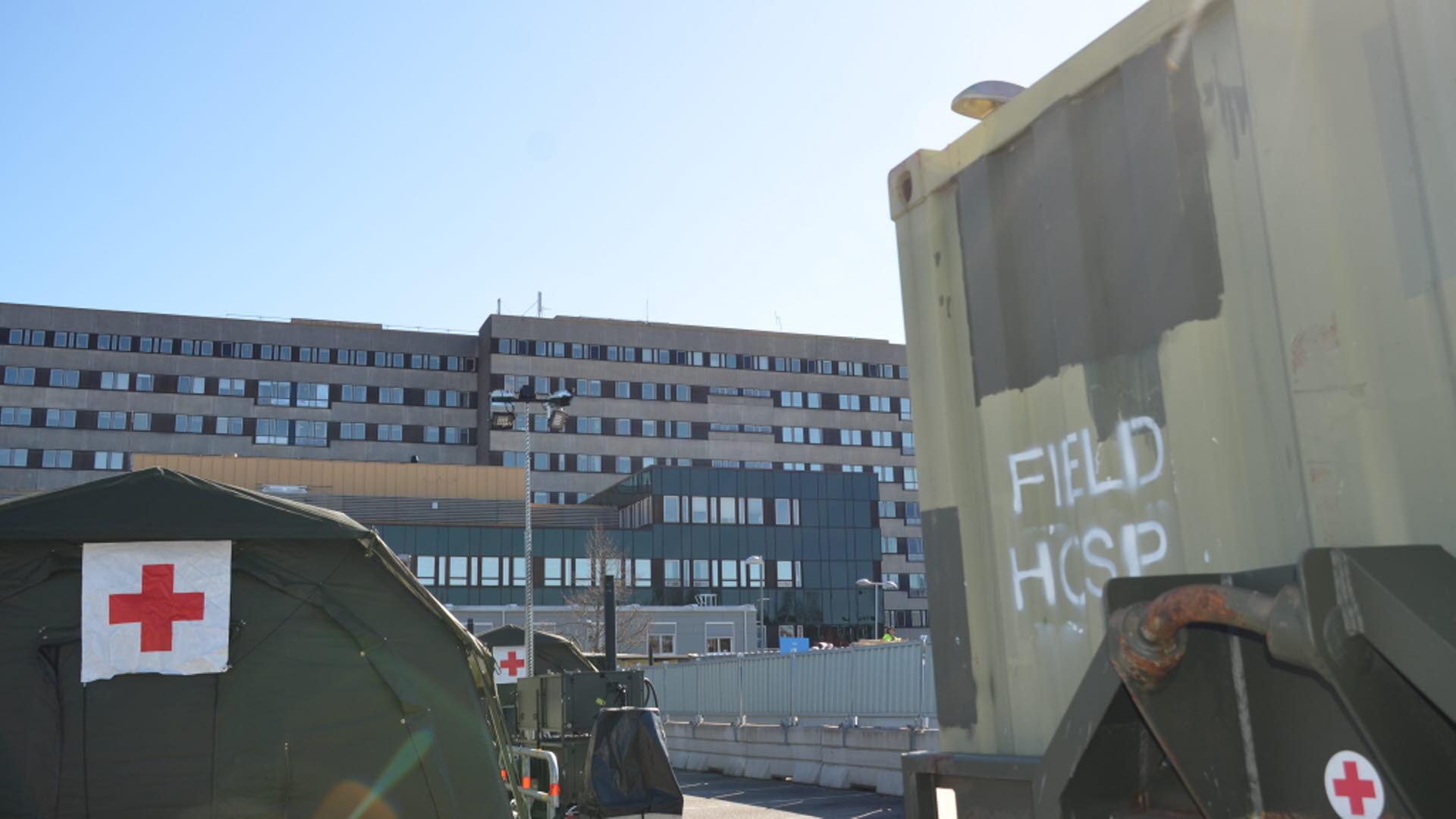 Västra Götaland: Försvarsmakten levererar tält till