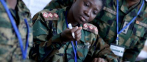 African officers in the Gender Training of Trainers programme. SWEDINT. NCGM.