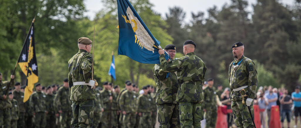 Emotional ceremony at the celebration of the establishment of the Gotland Regiment