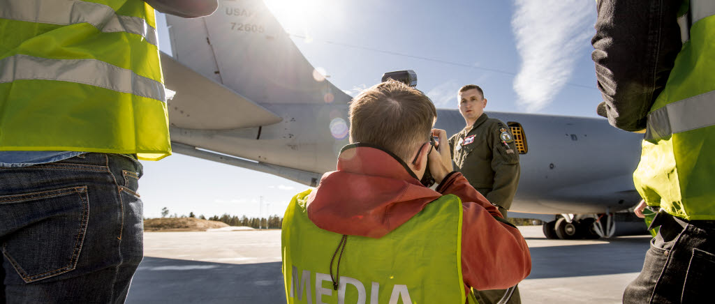 Media Events during the Swedish Armed Forces Exercise Aurora 17