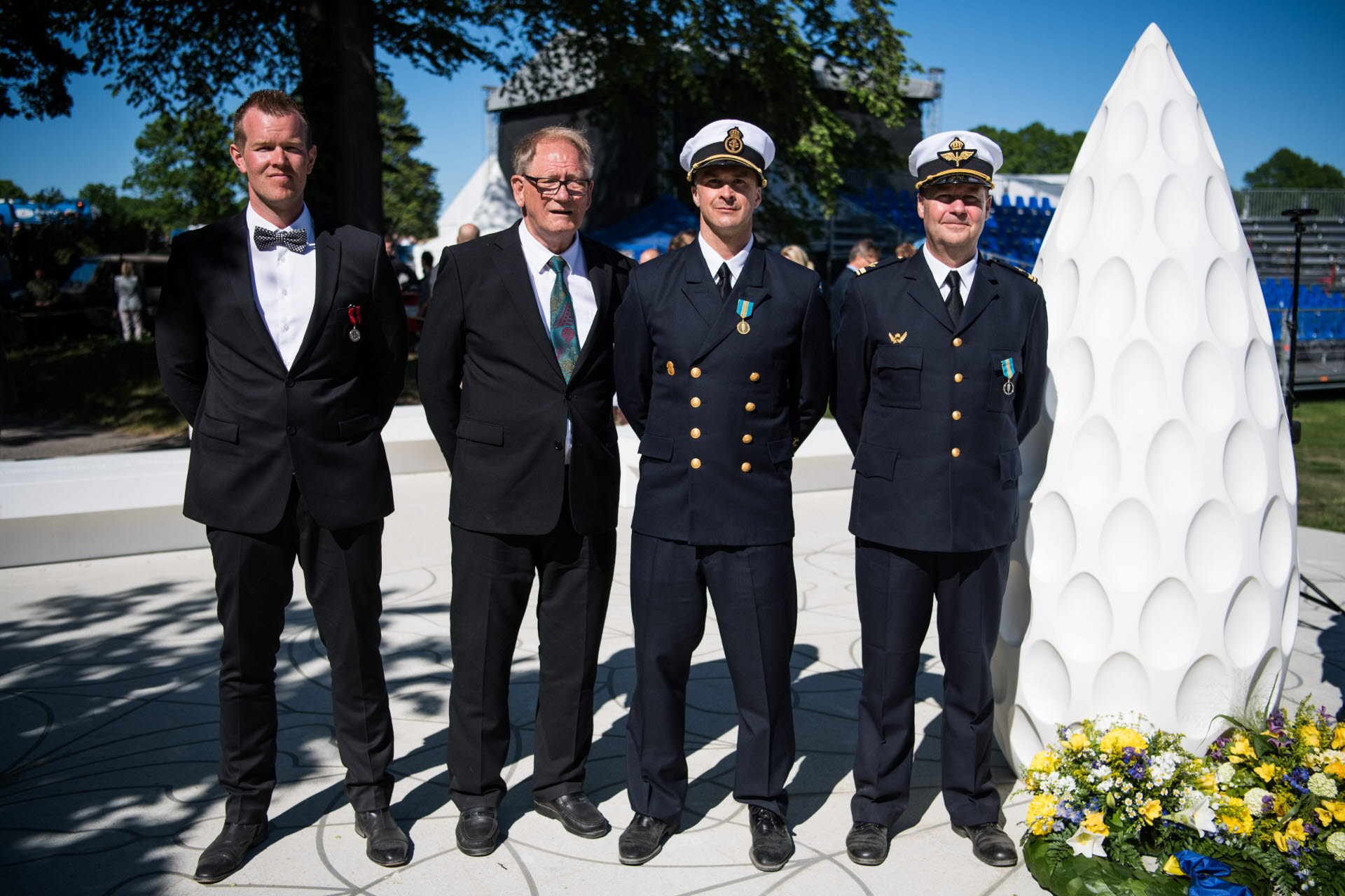 Forsvaret hedrade de omkomnas minne