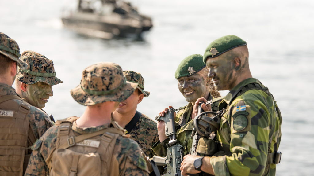 Swedish marines and U.S marines solves joint operation