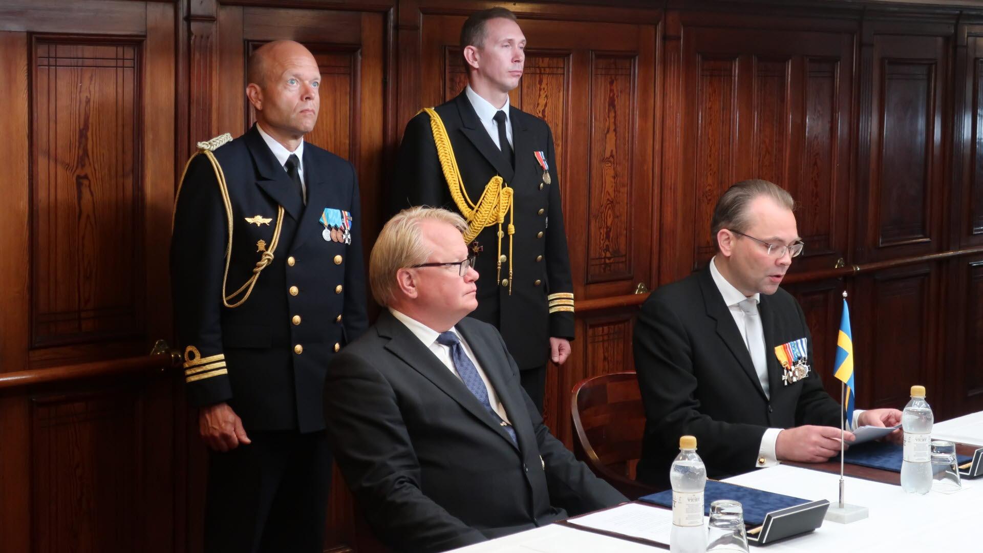 Starkt forsvarssamarbete med finland